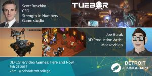 3D CGI & Video Games Event featuring Scott Reschke and Joe Burak